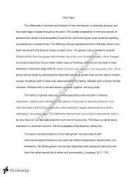gender roles essay year wace english thinkswap gender roles essay