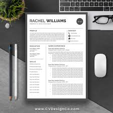 Best Selling Resume Cv Template The Rachel Instant Download