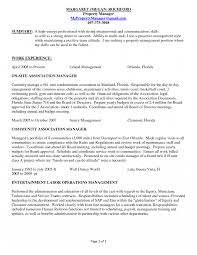 Property Management Resume Residential Examples Objective Resumes