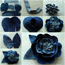 view in gallery rose flower from old jeans wonderful diy beautiful rose flower out of jeans