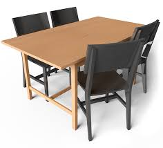 Norden Gateleg Table Cad And Bim Object Norden Gateleg Table And Chair Ikea