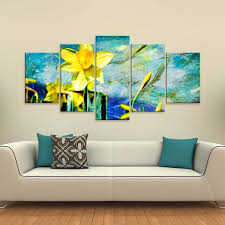 ready2hangart x27 painted petals vii x27 5 piece canvas wall on canvas wall art overstock with shop ready2hangart painted petals vii 5 piece canvas wall art