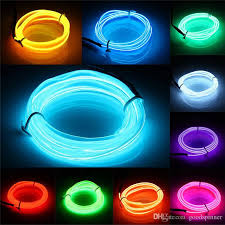 diy cable lighting. El Wire 3 Meters Rope Tube Cable Diy Led Strip String Lights Flexible Neon  Glow Light For Party Car Interior Decoration Dance Accessories Rave Diy Cable Lighting