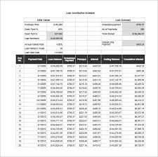 loan amortization spreadsheet template amortization schedule templates 10 free word excel pdf format