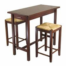 Winsome Mercer 3 Piece Double Drop Leaf Small Table Set with Nesting Stools  | Hayneedle