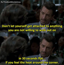Heat Quotes Extraordinary In Heat Robert DeNiro Talks About Walking Out On Someone In Thirty