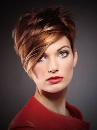 Short Blonde Hair With Red Highlights