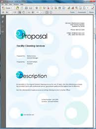 View Janitorial Services Sample Proposal Business Business