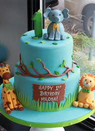 Whipped Bakeshop Philadelphia Safari Animals Birthday Cake
