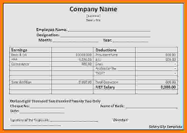 Payroll Receipt Template Interesting 48 Salary Slip Format In Word Free Download Technician Salary Slip