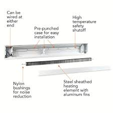 cadet 72 in 1 500 watt 120 volt electric baseboard heater in 1 500 watt 120 volt electric baseboard heater in white 6f1500 1w the home depot
