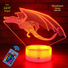 Kids Red Night Light Dragon Lamp Dragon Night Light Kids Night Light 16 Colors With Remote 3d Optical Illusion Kids Lamp As A Pefect Gifts For Boys And Girls Got On