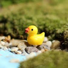 <b>10 Pcs</b>/set Resin <b>Mini</b> Little Yellow Duck Fairy Garden <b>Home</b> Plants ...