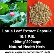 Lotus Leaf Extract Powder Capsules Natural Weight Loss Products ...