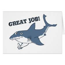 great white shark greeting cards zazzle great white great job funny cartoon card