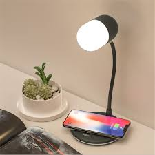 4 In 1 Led Bureaulamp Draadloos Opladen 3 Modus Touch Headset Met