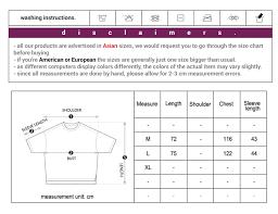 Supreme T Shirt Size Chart Cm Just Me And Supreme