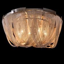 new classic rear modern ceiling lamp luxury aluminum chain chandelier lighting