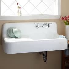 White Sinks For Kitchen 42 Cast Iron Wall Hung Kitchen Sink With Drainboard Kitchen