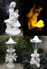 outdoor garden decor. outdoor garden decor solar fairy angel/cherub statue sculpture light led 1