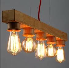 wooden pendant lamp restaurant coffee bar lamps dining room kitchen drop light lighting lights bunnings di