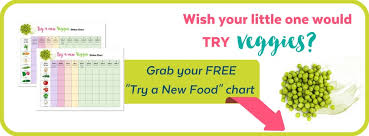 Try New Food Chart Your Child Wont Eat Veggies Until Now