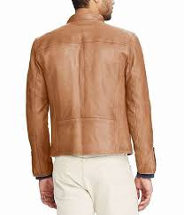 mens polo ralph lauren brooklands cafe lambskin racer jacket usjacket755on