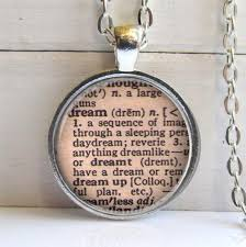 dream pendant dream vintage dictionary
