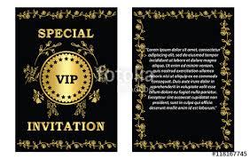 Golden Vip Invitation Card Template- A Golden Vip Invitation Card ...