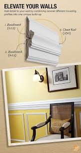 Small Picture Add detail to your walls by combining several different moulding