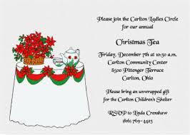 Christmas Tea Party Invitations Christmas Tea Invitation Zoro Braggs Co