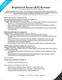 Sample Registered Nurse Resume Nursing Resume Objective Samples