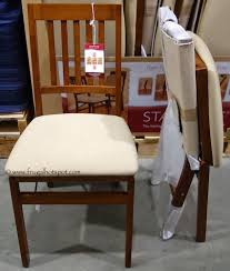 wood folding chairs costco. Modren Chairs Stakmore Solid Wood Folding Chair With Padded Seat Costco And Chairs K