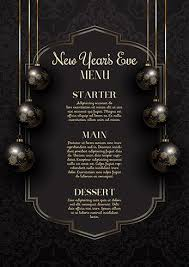 New Year Menu Luxurious Elegant New Years Eve Menu Design Download Free