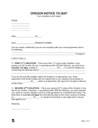free oregon eviction notice forms