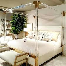 acrylic bedroom furniture. Acrylic Bed Modern Hotel Bedroom Furniture Crystal Frame King Size Cb2 Tray O