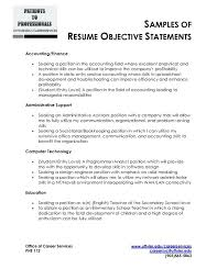 Resume Goals And Objectives Sarahepps Com