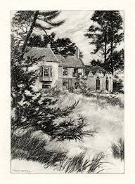 alfred lord tennyson an illustration by w e f britten showing somersby rectory where tennyson was raised and began writing