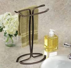 Hand Towel Holder Rack Stand In Bronze Vanity Countertop Kitchen