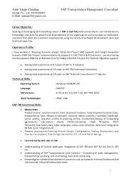 Sap Abap Resume 3 Years Experience Professional Resume Templates