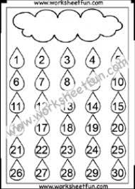 Number Chart 1 30 Free Printable Worksheets Worksheetfun