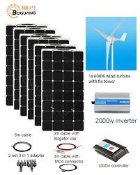 details about 600w wind turbine 6x100w solar panel wind hybrid system diy kits for home house