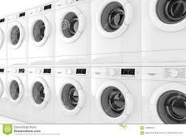 row of washing machines. Modren Row Row Of Modern Washing Machines On A White Background 3d Rendering Throughout Of S