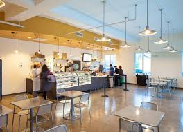 Bakery Interior Design Cafe With Luxury Flooring And Lighting