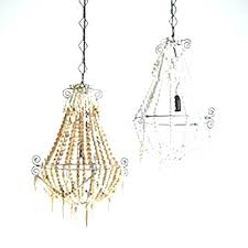 white beaded chandelier small white beaded chandelier wood bead world market white beaded chandelier nursery