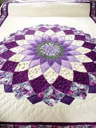 Patchwork Quilt Patterns Gorgeous Amish Quilt Giant Dahlia Pattern Purple Everything Pinterest
