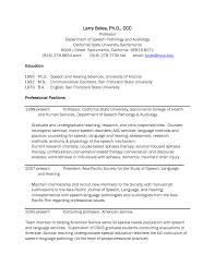 Speech Pathology Resume Example 63 Images Sample Cv Of