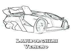 Car Coloring Pages Lamborghini Page Printable Police Repair New Cars