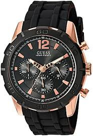 guess mens watches uk watches store guess men s u0864g2 sporty rose gold stainless steel multi function watch chronograph dial