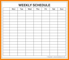 6 Free Printable Weekly Work Schedule Template Reptile